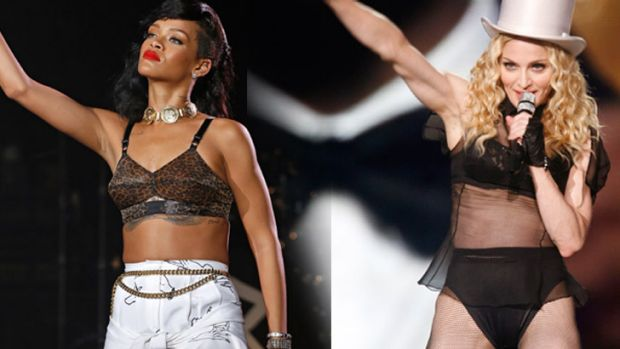Similarities between Rihanna and Madonna as performers cannot be denied, writes Christine Sams.