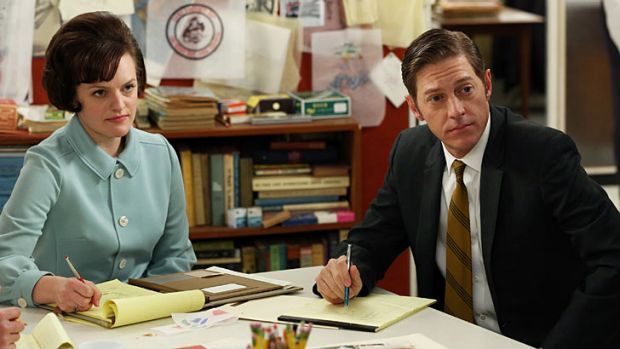 Peggy Olson has her eye on new partner Ted Chaough.