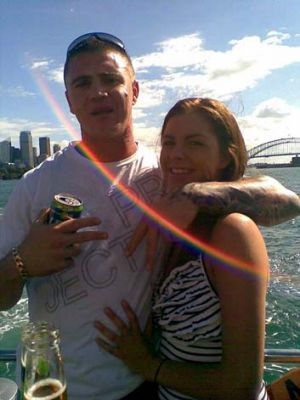 Murderer Sean Lee King and girlfriend Jazmin-Jean Ajbschitz. King was sentenced to a minimum of 25½ years in jail.