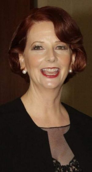 Prime Minister Julia Gillard at the Mid Winter Ball.