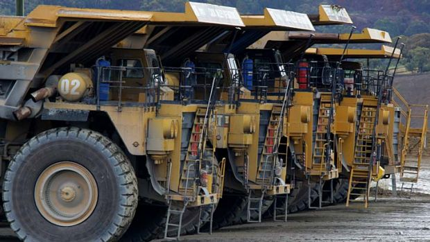 Big wheels keep on turning: Australian goldminers will be partly protected because of the fall in the currency.