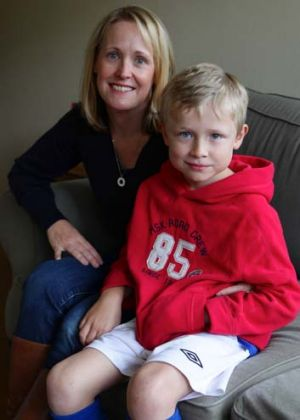 Enterovirus survivor: Nathanael Cachia, 7, with his mother Caileen.