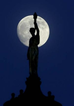 The moon is expected to be 13.5 percent closer to earth during the Supermoon.