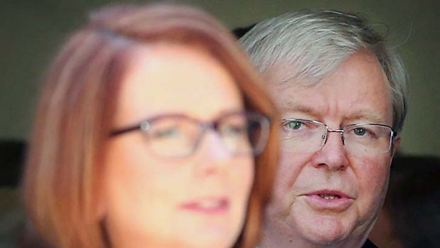 The constant shadow cast by Kevin Rudd over the Labor leadership could cost the ALP the election.