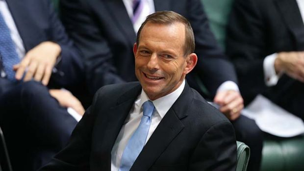 Smiling all the way to the polls: Tony Abbott is the only winner in the Labor debacle.