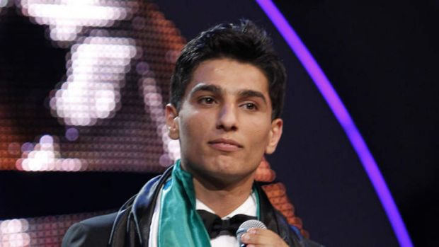 """Palestinian singer Mohammed Assaf performs after winning the """"Arab Idol"""" singing contest in Zouk Mosbeh, north of the ..."""