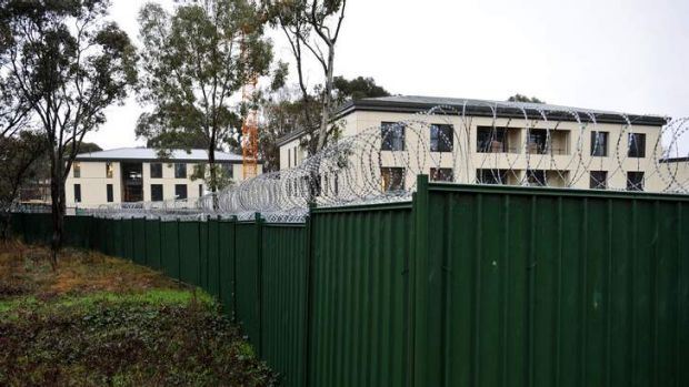 The Chinese Embassy site in Yarralumla.