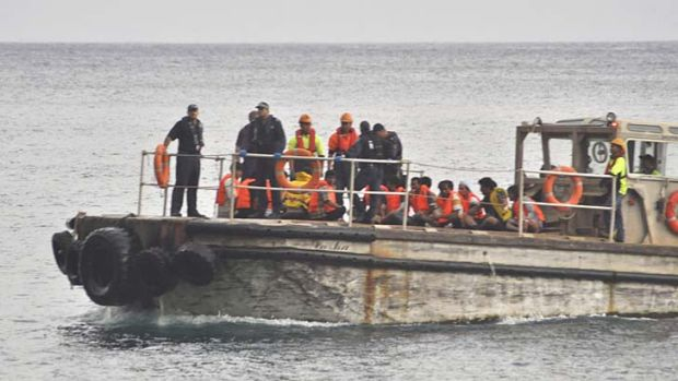 These are survivors from the asylum seeker boat that sank off Christmas Island last year, killing 96 people.