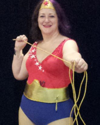 Wonderful costume of Wonder Woman's little sister - even if it is a bit ropey.