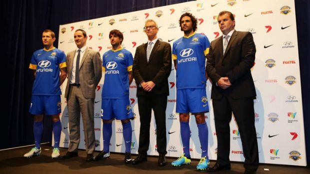 Optimistic: David Gallop at the A-League All Stars jersey launch on Tuesday.