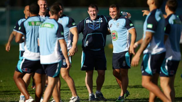 Feeling good: NSW no longer have the Blues.