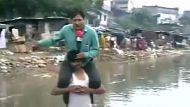 Staying dry while reporting floods (Video Thumbnail)