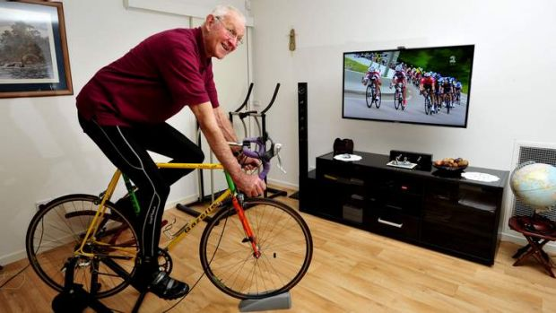 Lyle Swann of Gilmore will be riding his bike in the Tour de lounge to help raise money for the Leukemia foundation.