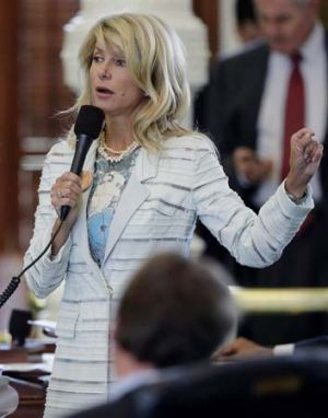 Wendy Davis during her 11-hour filibustering session.
