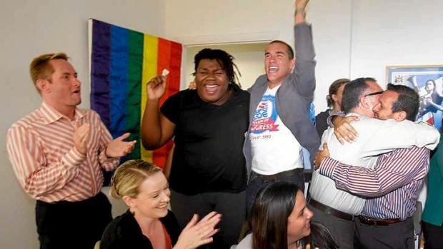 Celebrations after the US Supreme Court's ruling on gay marriage.
