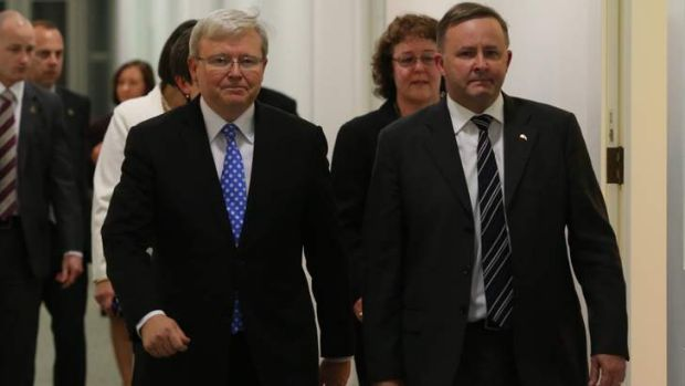 New team: Kevin Rudd and Anthony Albanese.