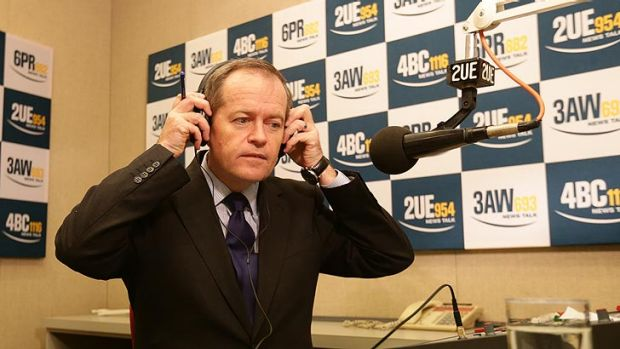 And now for some questions: Bill Shorten prepares for a radio interview on Thursday morning, hours after the leadership ...