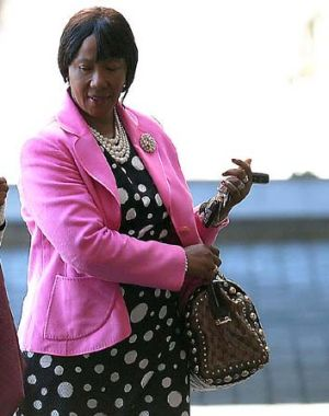 Makaziwe Mandela arrives on at the Medi Clinic Heart hospital in Pretoria.