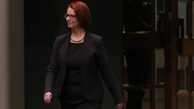 Julia Gillard: showed the person the public rarely saw.