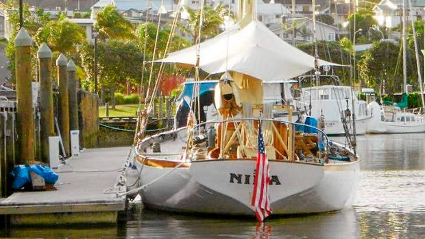 In this undated photo provided by Maritime New Zealand, the yacht Nina is tied at dock at a unidentified location.
