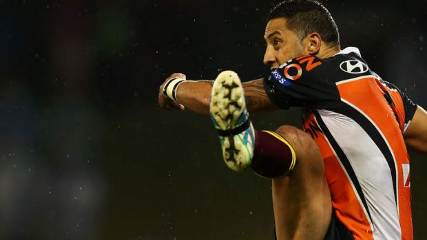 Undecided: Benji Marshall is in talks on whether to kick on with Wests Tigers.