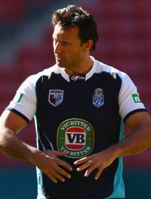 Hard done-by: Laurie Daley felt the Blues deserved several penalties.