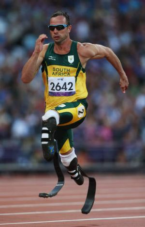 Accused with murdering his girlfriend: Oscar Pistorius.