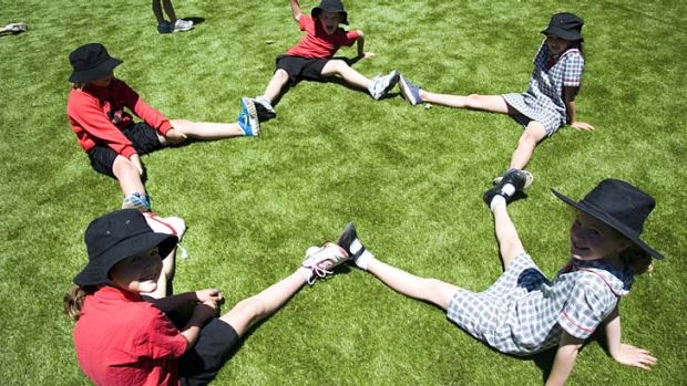 Points for PE: Torrens Primary School students in their playground. A study shows physical activity affects literacy and ...