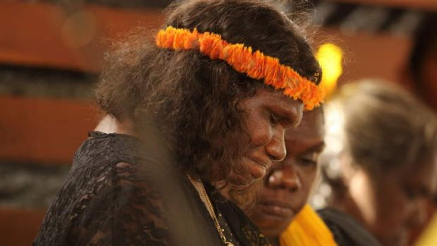 """He showed us a way"": Yalmay Yunupingu at the state memorial service for her husband, the former  Yothu Yindi singer ..."
