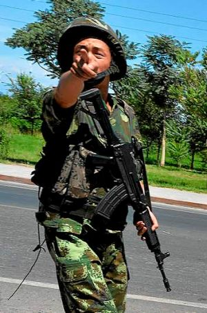 Little patience for trouble in Xinjiang.