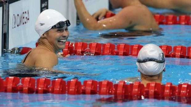 Swim star Libby Trickett is touring country WA promoting the SwimTheSwan event.