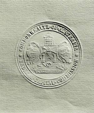The seal of the Canberra Coat of Arms.