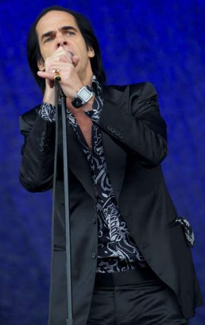 Nick Cave at Glastonbury.