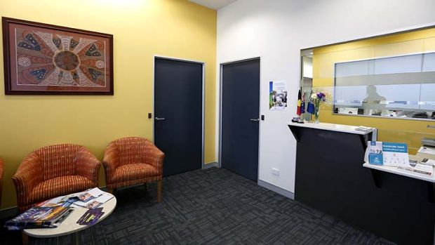 The interior reception area of the new electoral office in Queanbeyan.
