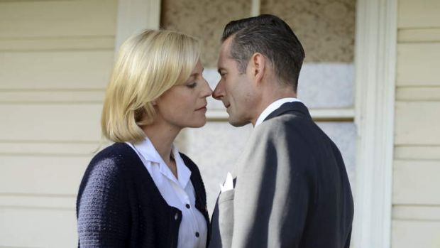 Quiet strength: Sarah (Marta Dusseldorp) and George (Brett Climo) star in Seven's <i>A Place to Call Home</i>.