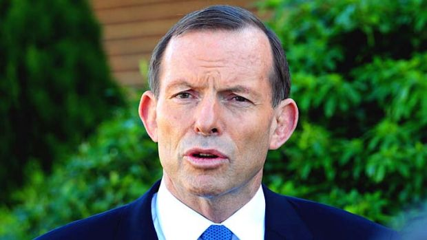 """Accused of playing the """"policy moderate"""" card: Tony Abbott."""