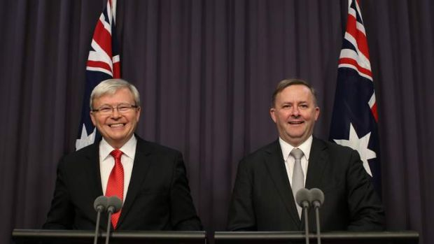 Prime Minister Kevin Rudd and Deputy Prime Minister Anthony Albanese on Thursday July 4.