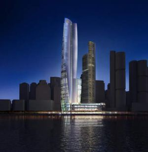 Gaming beacon: An artist's impression of James Packer's new casino.