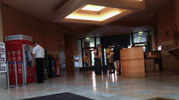 The lobby of the Novotel Hotel in Moscow's Sheremetyevo airport, Russia. NSA leaker Edward Snowden is believed to have ...