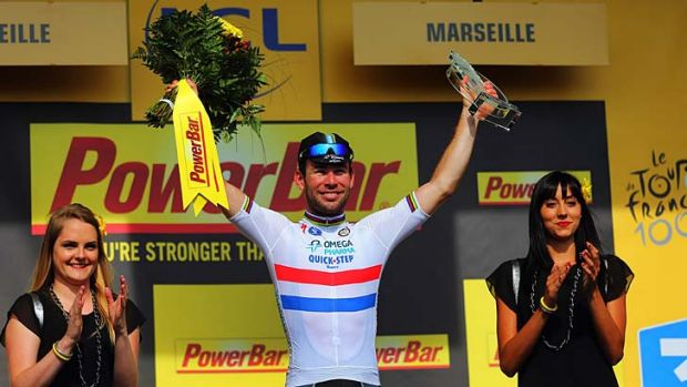 What a difference a day makes: Mark Cavendish won in Marseille.