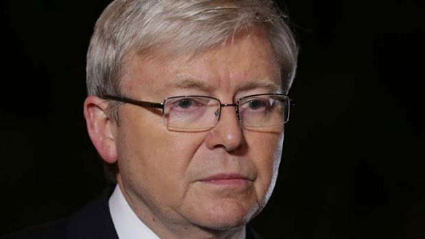 Prime Minister Kevin Rudd, pictured in Indonesia, said he was 'deeply sorry' for the deaths of the three young Queenslanders.