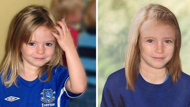 Missing: Madeleine McCann, 3, (left) and as she might look now.
