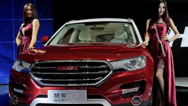 The Great Wall H7 SUV is unveiled at the Shanghai International Automobile Industry Exhibition.