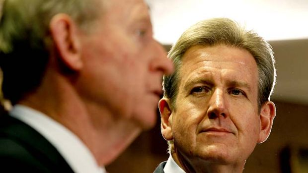 High stakes: Bid adviser David Murray (left) told Premier Barry O'Farrell Sydney needed a second casino for competition ...