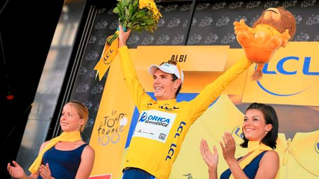 Daryl Impey of South Africa will wear the yellow jersey for Orica-GreenEDGE as the Tour heads to the mountains.