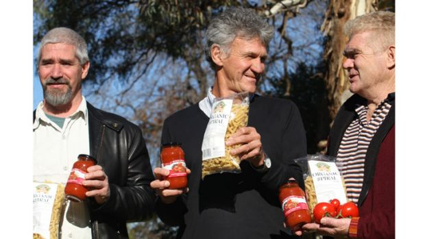 Goulburn Valley Food Co-op members (from left) Glenn McDonnell, Les Cameron and Simon Fraser.