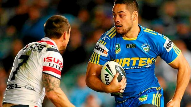 Jarryd Hayne injured his hamstring during the Eels' round 13 clash against the Roosters.