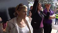Union protestors in Brisbane against a $57,000 pay rise handed to Queensland politicians.