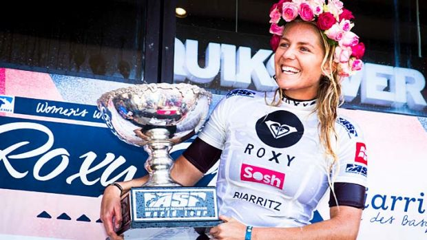 Is it her? Top Aussie surfer Stephanie Gilmore pictured at the Roxy Pro Biarritz event in 2012.