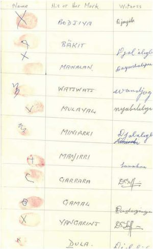 The thumbprints, which can be seen in an online exhibition for NAIDOC Week.